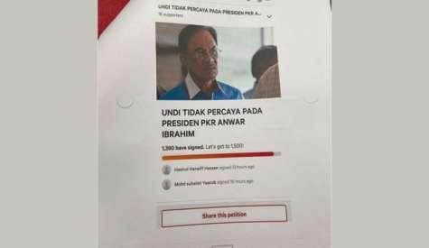 社媒传党员签署请愿  吁对安华不信任公投